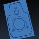OpenSCAM Render:  Front Plate